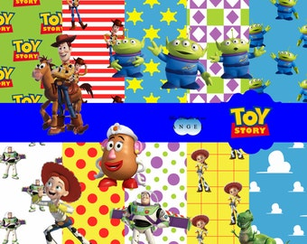 Digital paper kit party Toy Story / Toy Story Digital Papers Clipart