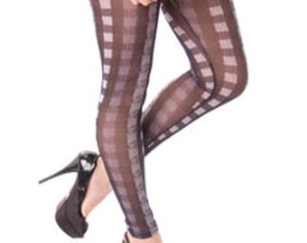 Touch Me Square Print Leggings