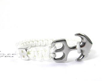 Anchor stainless steel bracelet 925 Silver letter-partner bracelet Friendship Bracelet