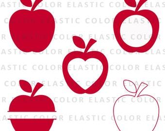 Apple svg files - apple monogram svg - apple clipart digital download svg, eps, dxf, png