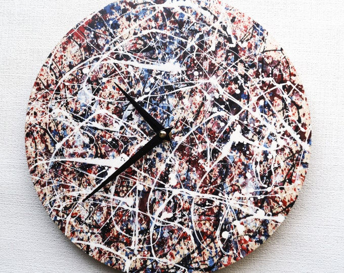 Boho Wall Clock Trending Art Wall Clock Home and Living Unique Wall Clock abstract acrylics
