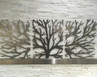 Metal Wall Art Decor Tree