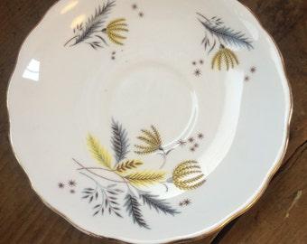Colclough bone china wheat tea saucer