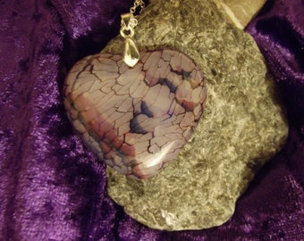 Agate glass pendant