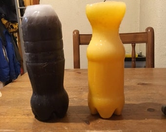 fizzy bottle cola beeswax candles