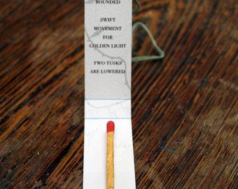 Golden Matchstick and Haiku - 3 /20
