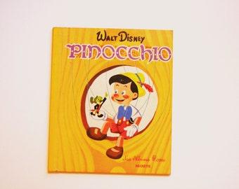 french Vintage Children's Book: Pinocchio / Walt Disney / the Roses Albums. (1963)