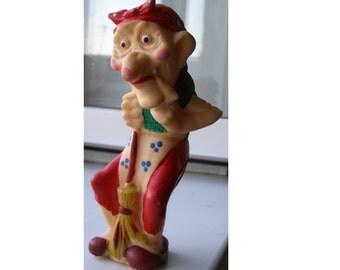 VERY RARE! Soviet Rubber Baba Yaga. witch. sorceress. wise woman. hag. hex. Soviet witch. Soviet Toy. Vintage Toy. Soviet. Soviet Rubber.