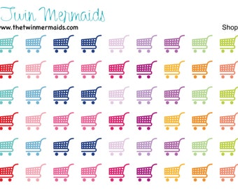 Shopping Carts Planner Stickers