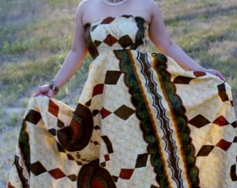 African Print dress, African maxi dress, African clothing, African flowing dress, Ankara dress, Ankara maxi dress,  african strapless dress