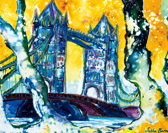 TOWER BRIDGE ~ LONDON, England, Limited Edition Print, Wall Art, Cityscape, Art Prints, Prints of London, Architectural Print