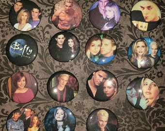 15 Buffy Vampire Button set