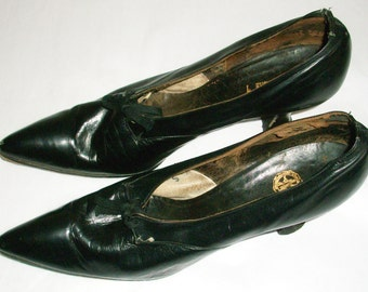 Edwardian or Teens Black Pumps
