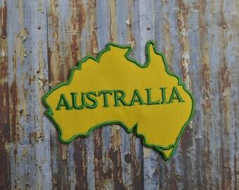 Australia Map Aussie Iron On Or Sew On Patch