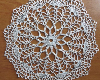 DOILY ECRU lace hook 20 cm (Cora)