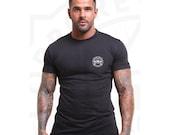 NUMBER 9 : Anti-Sweat - Logo -Seal- triangle -Sport custom made T-shirt -men-band