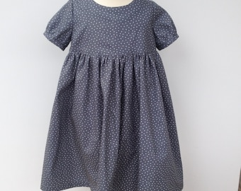 Small Grey star fabric Empire line dress