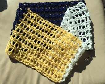 Yellow and Blue Infinity Scarf