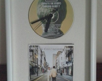 Classic CD Clock & Album Artwork In 3D Box Frame (Whats the Story) Morning Glory?