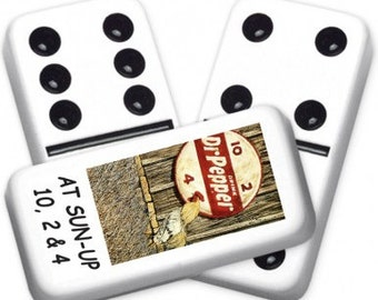 Dr. Pepper Custom Personalized Dominoes Set