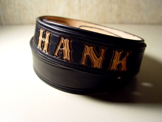 custom leather belt your name tooled 1 1 2 by skincarvers