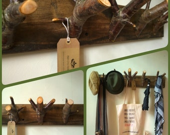 Woodland Birch Branch Coat/Hat Rack