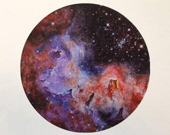 """Cosmos - 8""""x8"""" Giclée"""