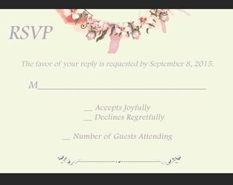 Floral Wreath Wedding RSVP PDF