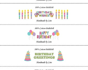 Happy Birthday Wrappers/Labels - PDF FILE ONLY