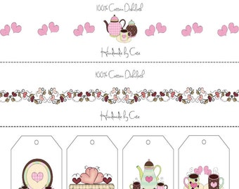 Coffee Time Labels and Gift Tags Combo - PDF FILE ONLY