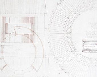 Star Wars Framed Blueprint , Home Decor, Wall Art - Cloud City Tower