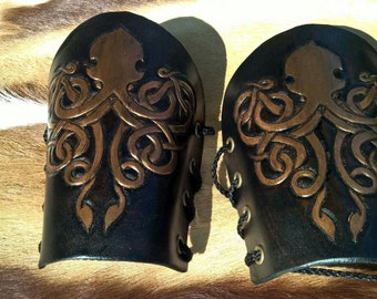 Game of Thrones House Greyjoy Leather Bracers