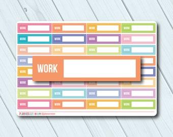 Work Planner Stickers - Fillable Tracker - Erin Condren Life Planner - Happy Planner - Business - Career - Matte or Glossy