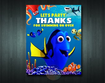 FINDING DORY Party Door Sign