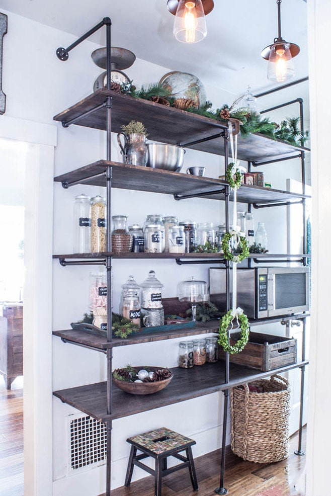 storage shelves kitchen industrial pipe shelving unit industrial shelves rustic 2570