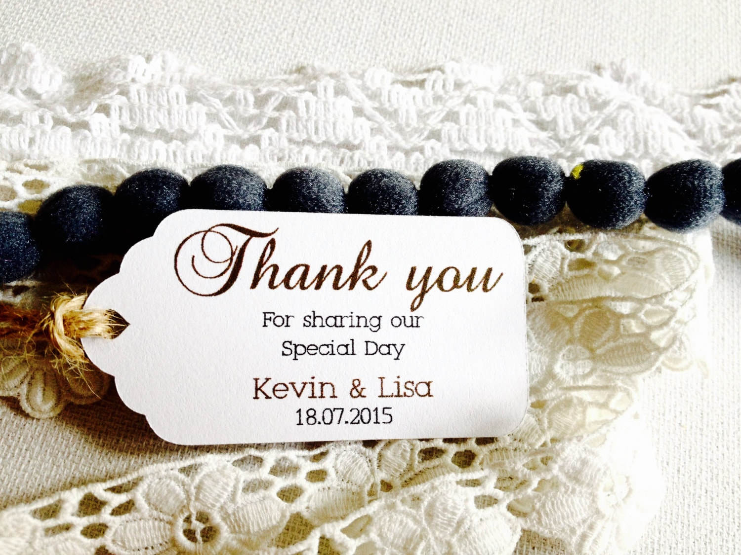 Personalized Thank you hang tags, White Hang Tag, Gift Tag, Favor ...