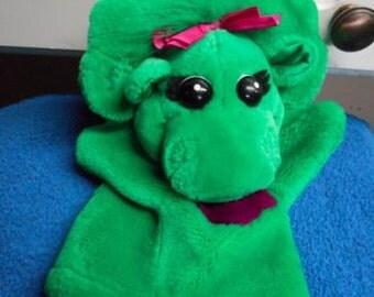 Barney Plush Baby Bop Hand Puppet Plush VGC CUTE