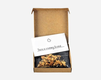 Box of crumbs disguised as a delicious cookie to prank your crummy friends - sent anonymously