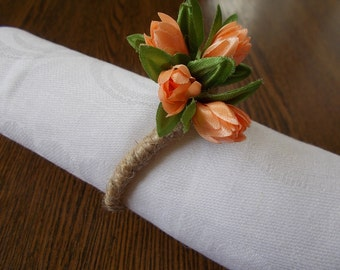 10 Wedding napkin rings, jute twine, rustic wedding decor, table decor, gift idea,  napkin rings wedding, napkin ring, napkin wrap