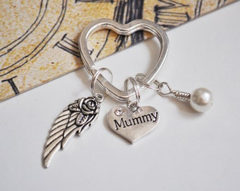 Mum Angel Wing Keyring Keychain Mummy Mothers Day Gift