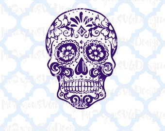 Sugar Skull SVG,EPS,PNG,Studio