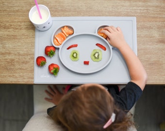 Silicone Placemat Bear Grey