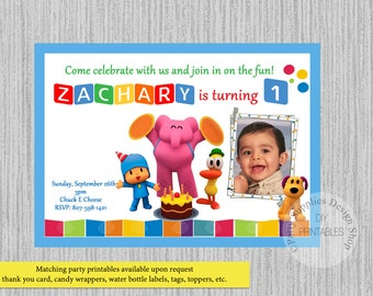 Pocoyo Invitations Etsy