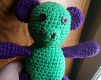 Hand-made Crotchet Teddy Bear Riddlebox