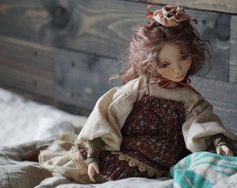 Varya Collectible doll Interior doll Dressed doll Souvenir interior doll Handmade doll OOAK doll Art doll