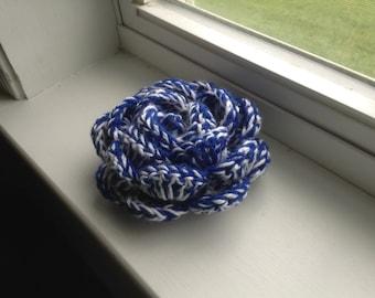 Beautiful two colored crochet flower