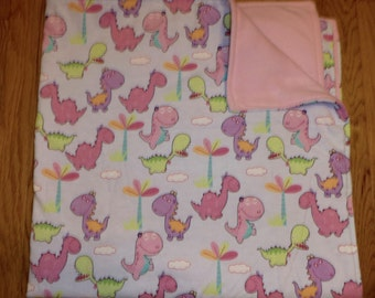 Happy Dinosaur Blanket and Pillow