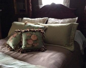 Custom made bedding, home decor pillows, toss pillows, shams and Euro shams, bedroom decor, duvet