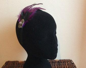 Feathers & Vintage - #5 Hairband