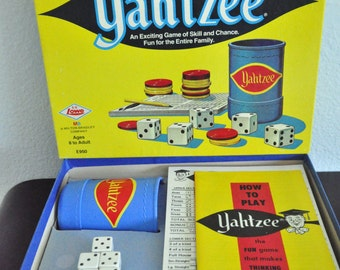 1973 Yahtzee Vintage Game In Original Box